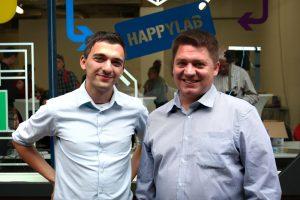 Die beiden Gründer des Happylab. Foto: Happylab