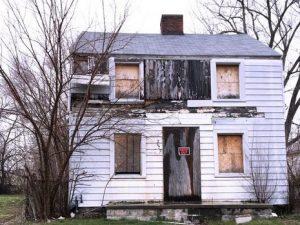 So sah Rosa Parks' Haus vor dem Abriss in Detroit aus. Foto: externe Quelle - ©Fabia Mendoza