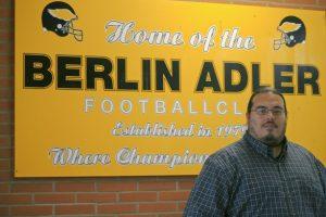 Eric Schramm, der Head Coach der Berlin Adler. Foto Andrei Schnell.