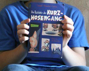 Lieblingsbuch: Kurzhosengang. Bitte vorlesen, Mama. Foto: Dominique Hensel
