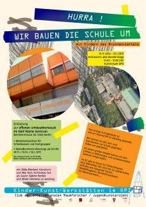 Ein Plakat des Clubs der internationalen Raumforscher im Brunnenviertel. Grafik: Riechert