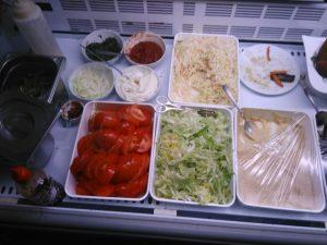 Saucen Gemüse Salat