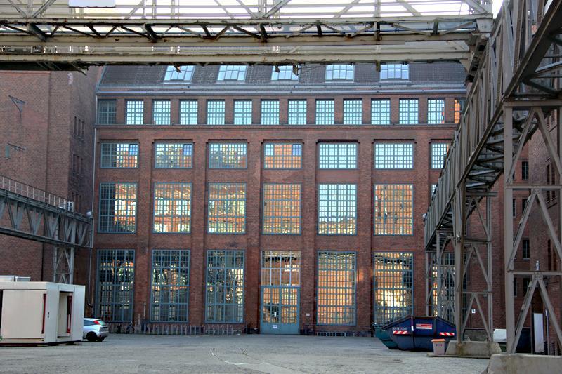 AEG Voltastraße, Fabrikgebäude, Fabrikhalle