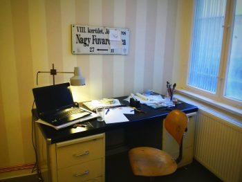 Schreibtisch im Tattoo-Studio