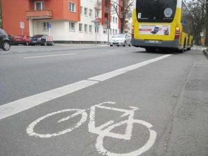 Fahrradspur, Gartenstraße