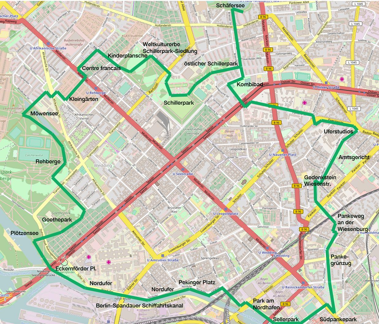 Kartenbasis: Openstreetmap