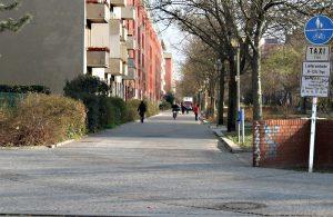 Radwege im Wedding: die Swinemünder Straße