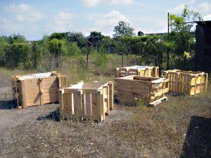 Hochbeet für den Mauergarten werden bald wieder gebaut. Diese hier sind aus dem Jahr 2013. Foto: D. Hensel