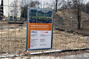 Der Mauerpark wird gerade erweitert. Ist das fertig, kehrt der Garten zurück. Foto: D. Hensel