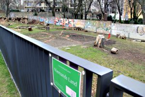 Der Gemeinschaftsgarten Niemandsland an der Bernauer Straße. Foto: Hensel