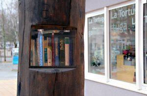 Das Team des La Tortuga hat den Bücherbaum immer im Blick. Foto: Hensel