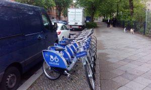 Nextbike-Leihräder an der Ostender Straße