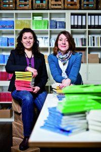 Die binooki-Verlagsgründerinnen Inci Bürhaniye (links) und Selma Wels. © Stephan Pramme