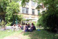 Im Garten des Panke Clubs. Foto: Hensel