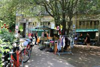 Flohmarkt an der Panke. Foto: Hensel