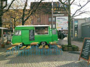 Alin Gaza Verkaufswagen Leopoldplatz