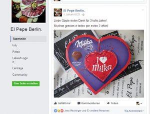 Das Team des El Pepe bedankte sich auf seiner Facebook-Seite bei seinen Gästen.