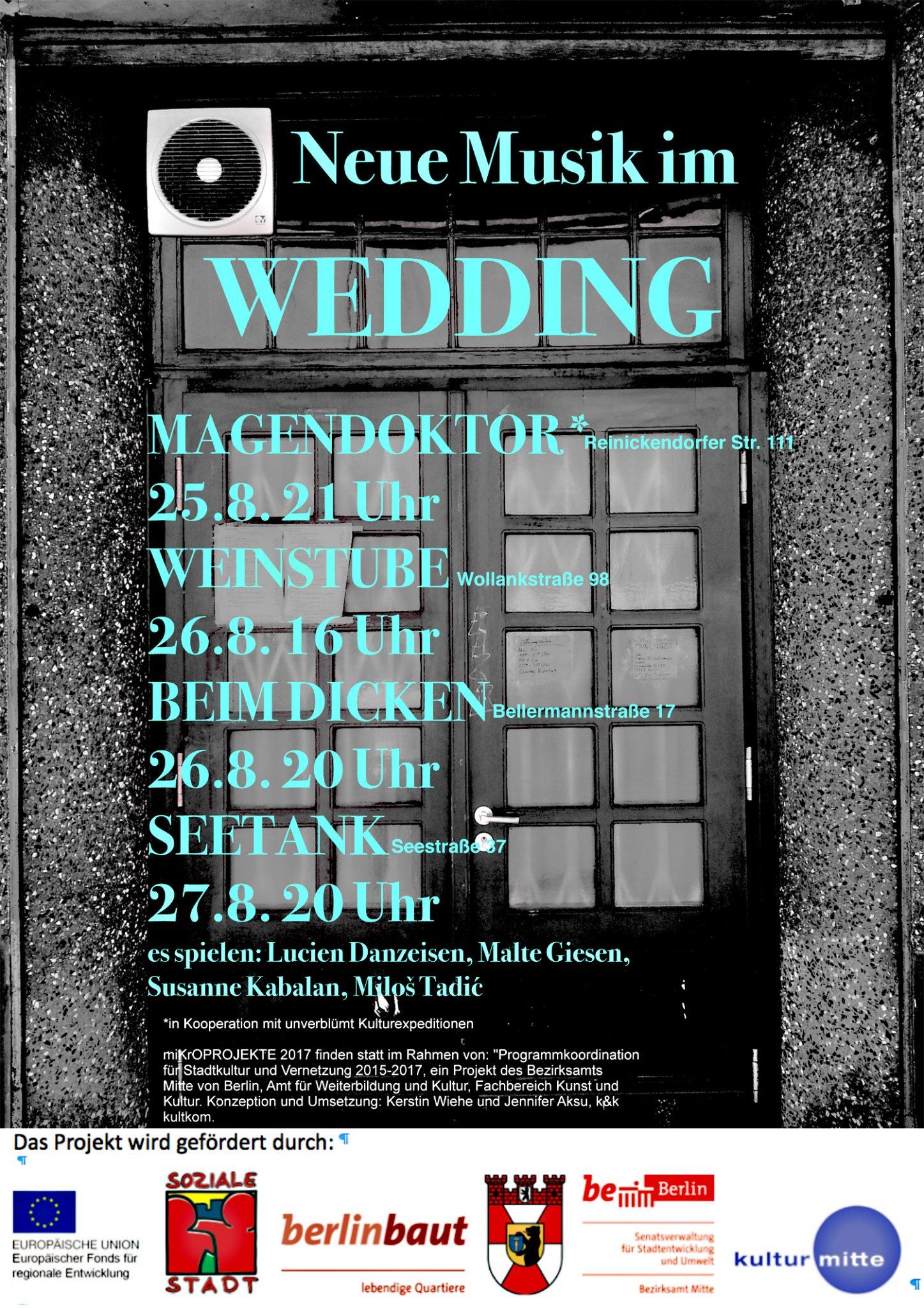 Neue Musik In Eckkneipen Weddingweiser