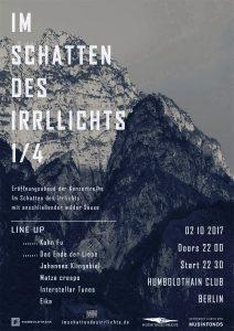 Im Schatten des Irrlichts - Plakat für den ersten Teil der Konzertreihe. Foto: Promo