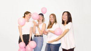 """Carolina, Dalyn, Melissa und Lizzy von """"Save your boobs""""."""