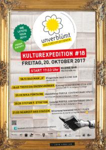 Plakat der Kulturexpedition#18. Grafik: Georg+Georg