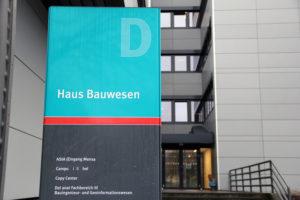 Im Haus Bauwesen auf dem Campus hat der ASta seinen Sitz. Foto: Hensel