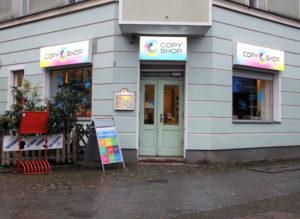 Copyshop Tegeler Straße. Foto: Hensel