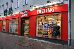 Zeichen-Center Ebeling in der Triftstraße. Foto: Hensel