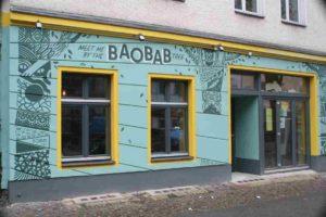 Das Café Baobab von außen