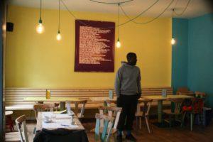 Das Café Baobab von innen