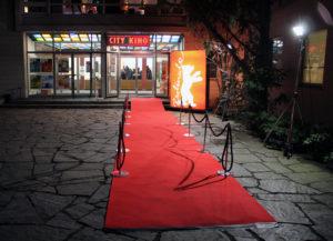 Roter Teppich von dem City Kino Wedding bei der Berlinale 2017.