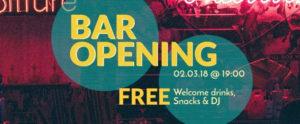 Flyer zur Bar-Eröffnung im be'kech
