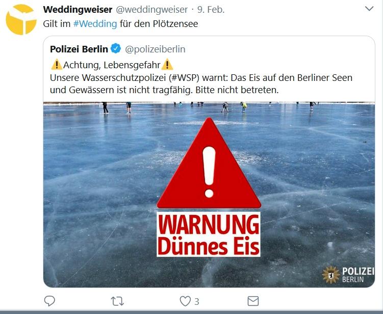 Twitter Dünnes Eis