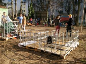 Arbeitseinsatz im Gemeinschaftsgarten Wilde 17 in der Böttgerstraße. Foto: Hensel