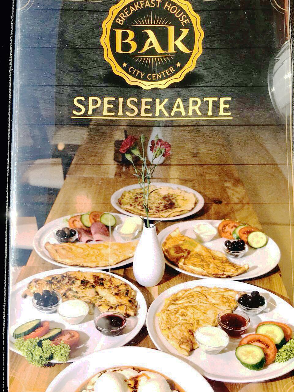Die Speisekarte des Frühstückscafés in der Prinzenallee. Foto: Stöckel