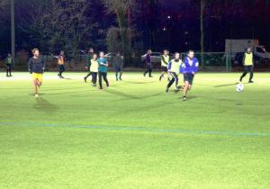 Das Team von Dynamo Dosenbier beim Spiel auf dem Sportplatz Behmstraße. Foto: A. Keilen