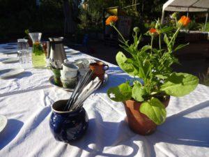 Das Händlerfrühstück der StandortGemeinschaft Müllerstrasse im Himmelbeet (c) Foto von Susanne Haun