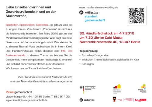 Einladung Händlerfrühstück 07 - 18 - Seite 2 (c) Standortgemeinschaft Müllerstrasse