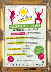 Das Plakat zur Kulturexpedition im Juni. Grafik: georg + georg