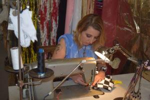 Im Atelier von Modedesignerin Daniela Wolf in der Groninger Straße. Foto: Annika Keilen