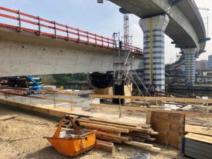 Baustelle einer Brücke