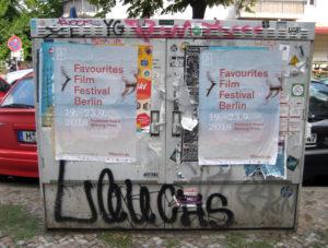 Plakate in der Tegeler Straße. Foto: D. Hensel