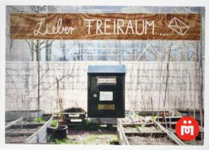 Ein Motiv aus dem Himmelbeet, das derzeit bei der Freiluftausstellung in der Müllerstraße gezeigt wird. Foto: Hensel