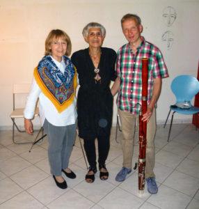 Zu Gast im Studio Berten: Autorin Ruth Fruchtmann (Mitte). Foto: Christoph Berten