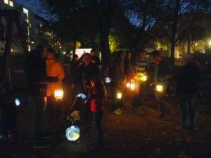 Nachtwanderung auf der Grüntaler Promenade. Foto: gruppe F