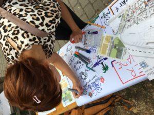 Beim Panke Pancours wurden Ideen für die Grüntaler Promenade gesammelt. Foto: gruppe F