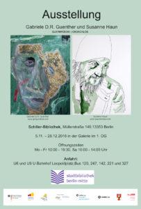 Ankündigung Ausstellung Obdachlos in Schiller Bibliothek (c) Susanne Haun