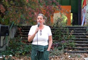 Katja Niggemeier vom Quartiersmanagement Brunnenstraße. Foto: Hensel