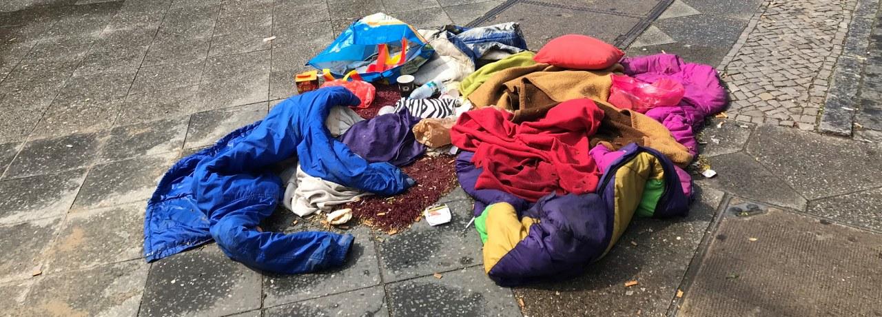 Ein Lager auf der Straße, Foto von Susanne Haun
