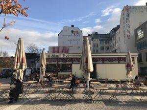Leopoldplatz, Simit Evi, hier findet die Suppenküche am 7.11.18 statt, Foto von Susanne Haun